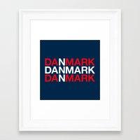 denmark Framed Art Prints featuring DENMARK by eyesblau