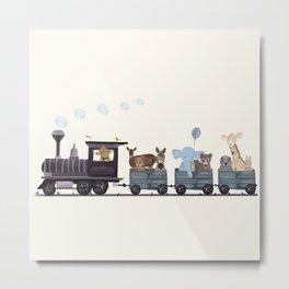 little nature train Metal Print