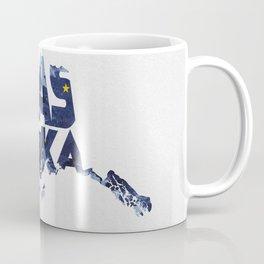 Alaska Typographic Flag Map Coffee Mug