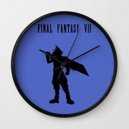 Cloud Strife Silhouette Minimal (Black) - Final Fantasy VII Wall Clock