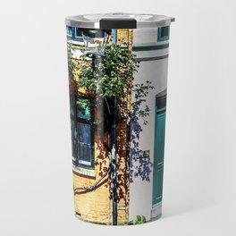Danish Building Facades in Colourful Sunny Copenhagen Travel Mug