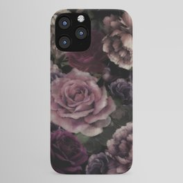 Roses In Burgundy And Pink Vintage Botanical Garden iPhone Case