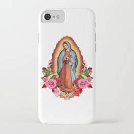 Our Lady of Guadalupe with roses iPhone Case