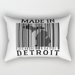 MADE IN DETROIT Bar Code Rectangular Pillow