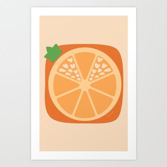 Orange Heart Art Print