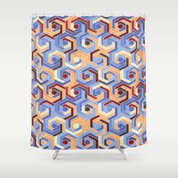 60s Shower Curtains featuring Back in the 60s terra by MehrFarbeimLeben