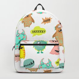 Happy little monsters Backpack