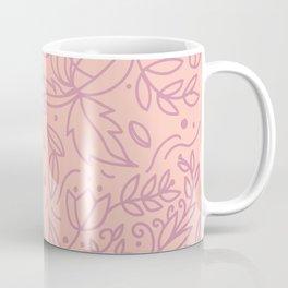 Organic flower pattern in pink gradient Coffee Mug