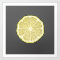 lime Art Prints featuring lime by jon hamblin