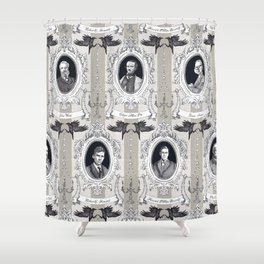My favorite Authors Toile de Jouy Shower Curtain