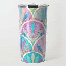 Glamorous Twenties Art Deco Pastel Pattern Travel Mug