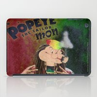 popeye iPad Cases featuring POPEYE THE SAILOR MON - 018 by Lazy Bones Studios