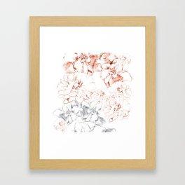 Penciled in Floral Framed Art Print