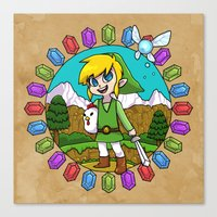 hyrule Canvas Prints featuring Hyrule Adventurer by Crimson Pumpkin