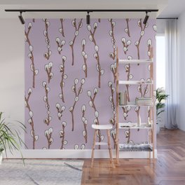 Willow branches Wall Mural