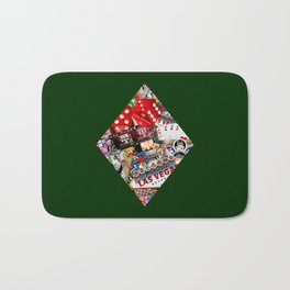 Diamond Playing Card Shape - Las Vegas Icons Bath Mat