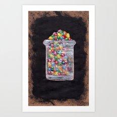 Candy Jar Art Print