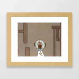 navegadores: viagem no tempo Framed Art Print