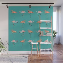 Flamingo Party Wall Mural