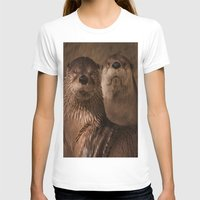 otters T-shirts featuring River Otters by Joshua Arlington