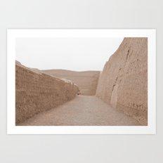 Ruins sand chan chan Art Print