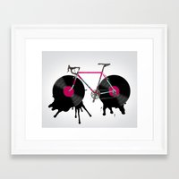 bicycle Framed Art Prints featuring bicycle by mark ashkenazi