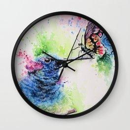 Hummingbird and Butterfly Wall Clock