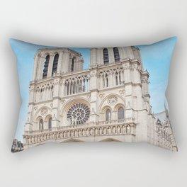 France Photography - Cathédrale Notre-Dame De Paris Under The Blue Sky Rectangular Pillow
