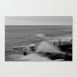 Waves breaking on rocks - Windansea Beach, CA Canvas Print