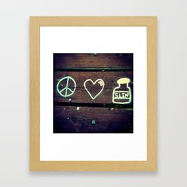 Peace Love and Insulin  Framed Art Print