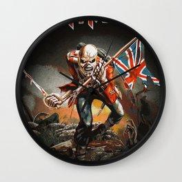 iron maiden album 2021 katrin1 Wall Clock