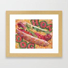 Hot Dog (Chicago Style) Framed Art Print
