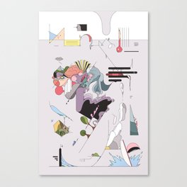 Cover for an imaginary magazine Canvas Print
