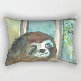sloth rain Rectangular Pillow