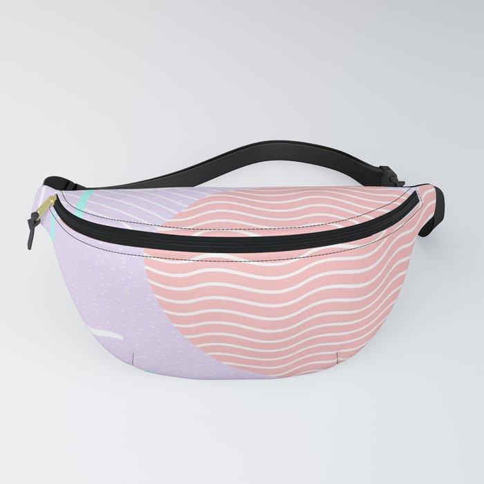 Memphis Summer Lavender Waves Fanny Pack