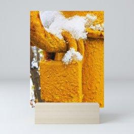 Secure in Yellow Mini Art Print