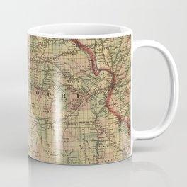 Vintage Missouri Railroad Map (1872) Coffee Mug