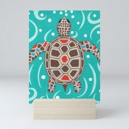 Sea Turtle Swim Mini Art Print