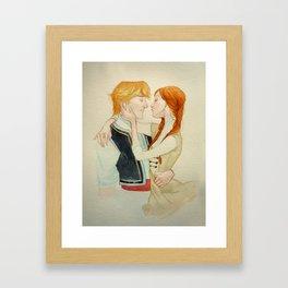 Anna x Kristoff  Framed Art Print