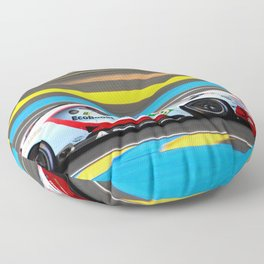 GT American Sports Car Le Mans 2019 Floor Pillow