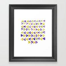 Triangle Relationship (I) Framed Art Print
