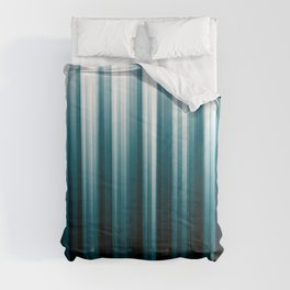 Tropical Dark Teal Inspired by 2020 Color Oceanside SW6496 Soft Vertical Blurred Line Pattern Comforters