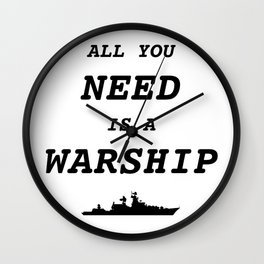 World of Warships - All you need is a Warship Wall Clock