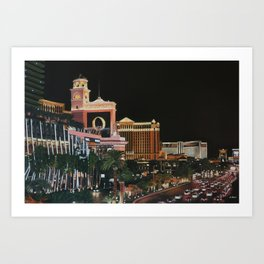 Las Vegas Strip Oil On Canvas Art Print