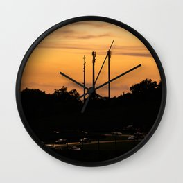 Sunset formation Wall Clock