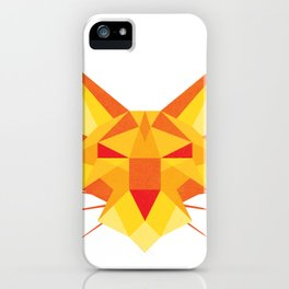 Geometricat iPhone Case
