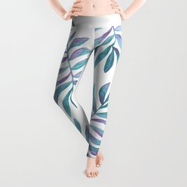 Wild, Barefoot & Free - Palm Leaf Quote Leggings