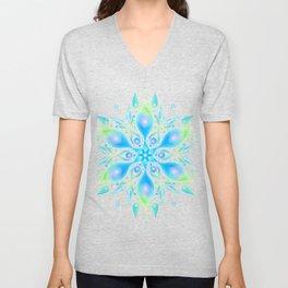 Turquoise Mandala Unisex V-Neck
