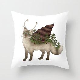 Catsnail I Throw Pillow