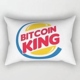 Bitcoin King Rectangular Pillow